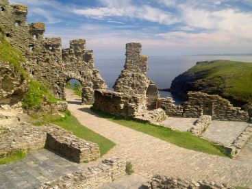 The ruins of Tintagel Castle in Cornwall.