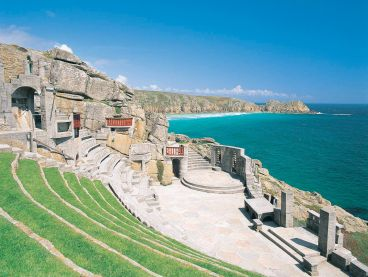 The Minack Theatre, an amphitheatre carved into the cliffs in Cornwall.