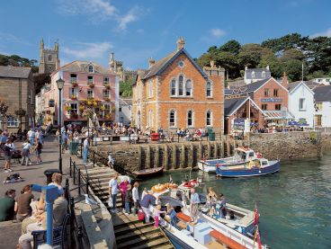 Fowey, a fishing village in Cornwall.