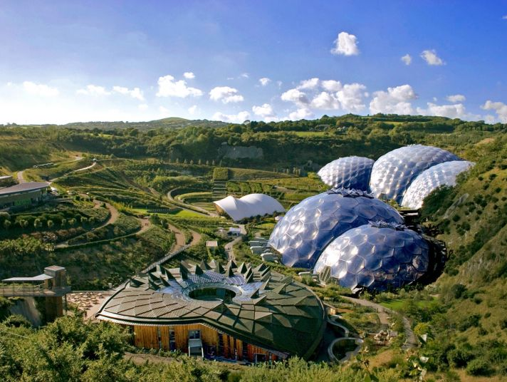 The Eden Project in Cornwall.