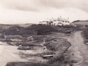 A historic photo of The Nare hotel.