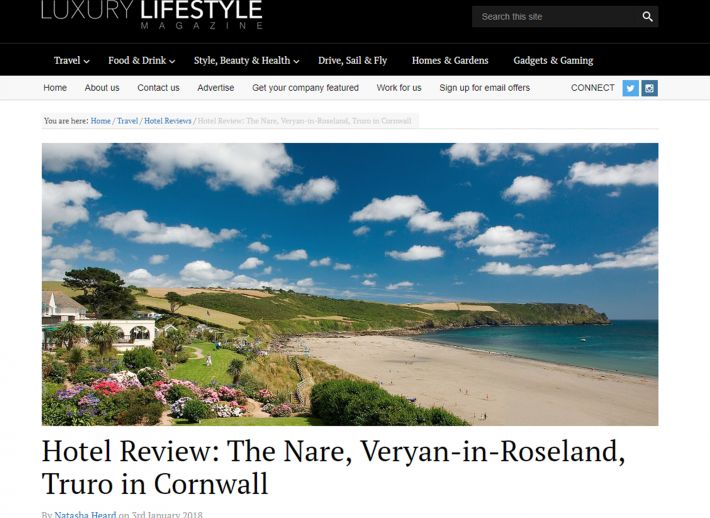 The Nare in Luxury Lifestyle magazine.