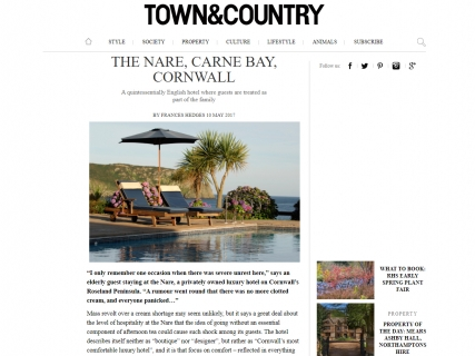 The Nare in Town & Country magazine.