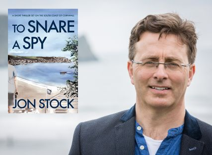 Author Jon Stock and his spy novel To Snare a Spy, published by The Nare.
