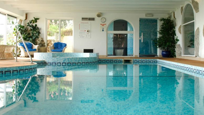 The Indoor Pool At The Nare Hotel.