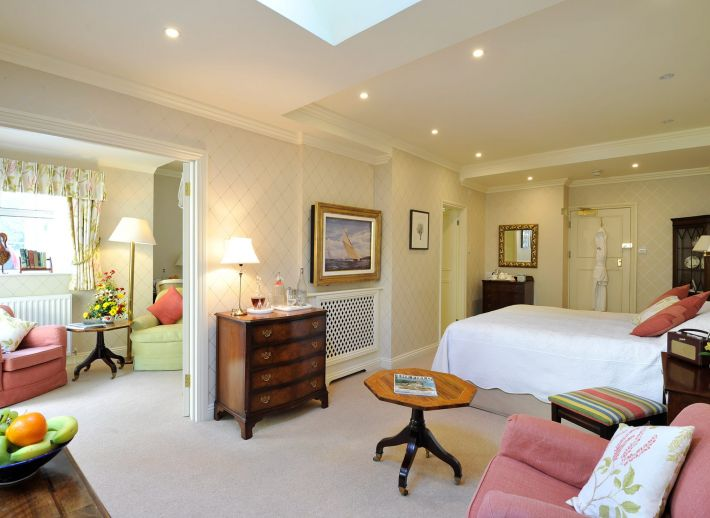A luxury suite at Roseland hotel The Nare.