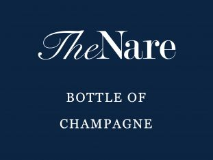 A gift voucher for a bottle of champagne at The Nare hotel.