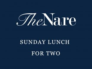 A gift voucher for a Sunday lunch for two at The Nare hotel.