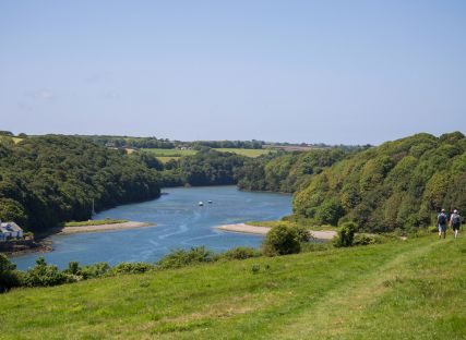 Cornish rivers seen form a hilltop walk.